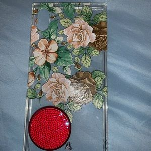 iPhon XS Case with Red PopSocket